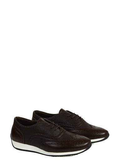 Collezione Kahverengi Desenli Bağcıklı Erkek Ayakkabı Kahve